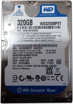 Western Digital WD Blue | Laptop Festplatte | 320GB | WD3200BPVT - 80ZESTO