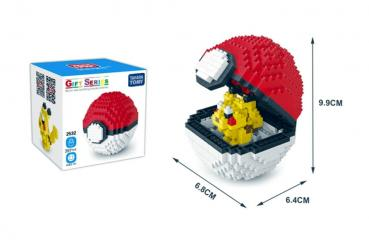 Pokeball Pikachu Diamond Blocks mit Box | Pokemon