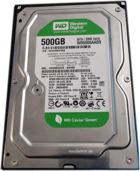 Western Digital | Caviar Green | 500GB | WD5000AADS | 3,5 Zoll intern| SATA
