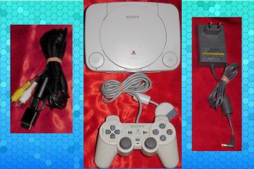 Playstation 1 SLIM | PS One SLIM Konsole | SCPH-102 C9203784 | AV - Netzkabel & Kontroller