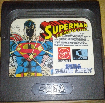 SEGA Game Gear Superman The Man Of Steel